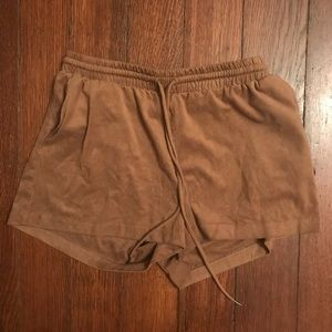 H&M suede shorts